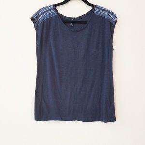 Gap blue sleeveless top. Size medium